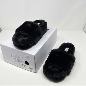 Steve Madden Fabfuzz Faux Fur Platform Slipper